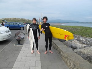 Matt & Ian - we're heading out for surf in Strandhill, Sligo