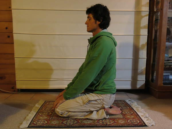Vajrasana for the digestive system