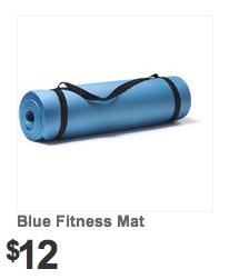 Kmart Blue Fitness Mat