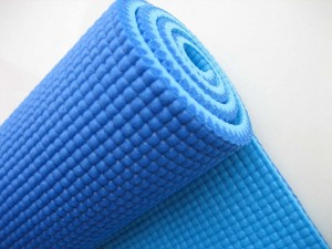 Close up of a PVC yoga mat