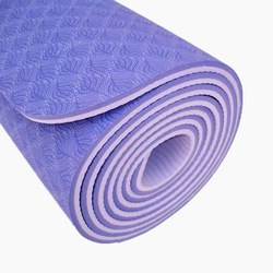 Close up of a TPE yoga mat