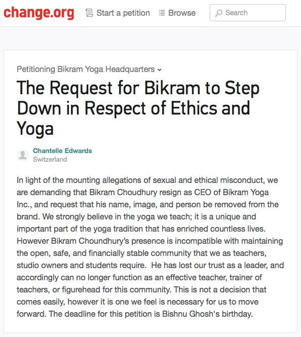 Bikram, your notice has been served.